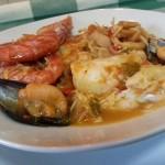 Cazuela de pescado y marisco
