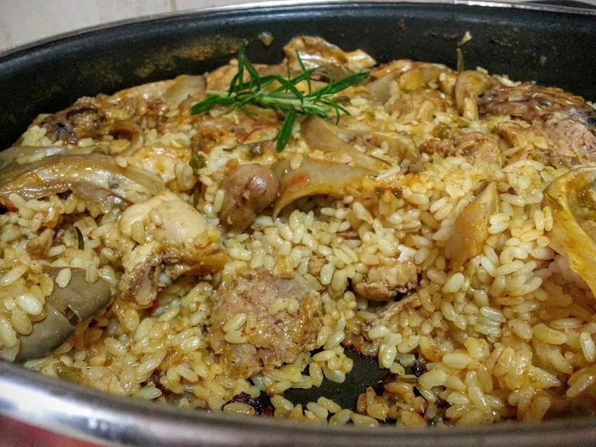 arroz con conejo y butifarra