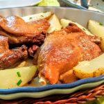 Confit de pato con salsa de higos