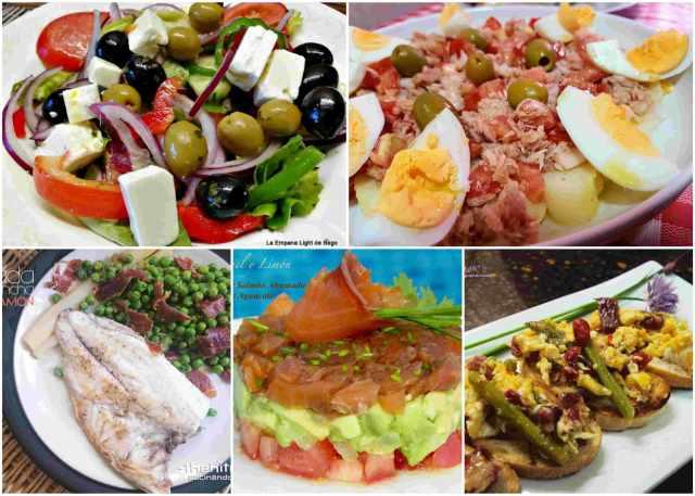 recetas de verano para cenas ligeras
