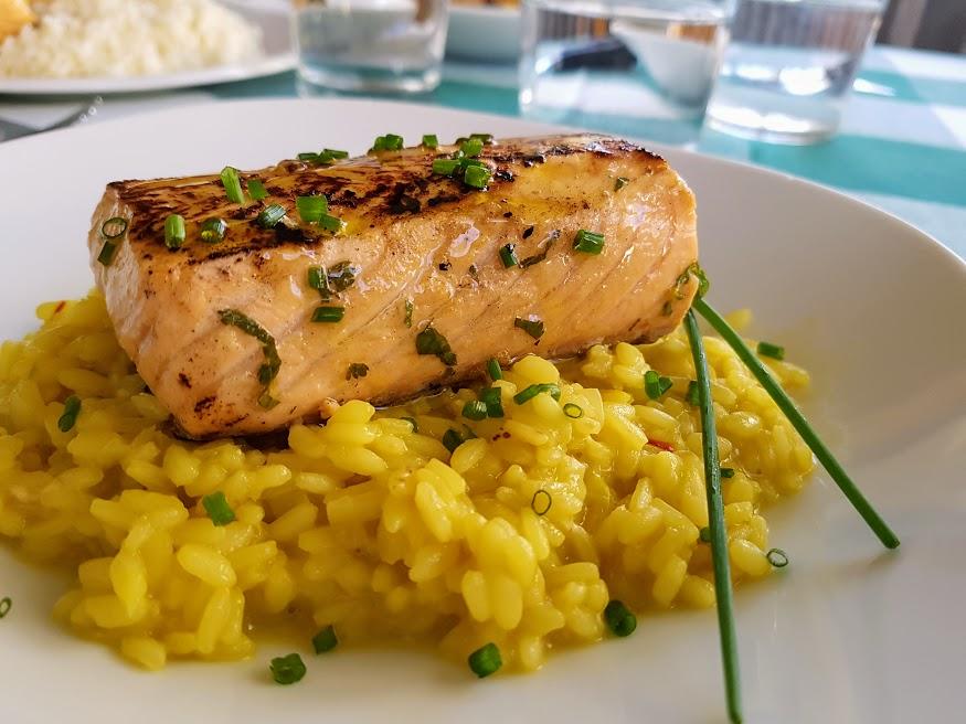 Salmón marinado con risotto al azafrán La Cocina de Pedro JPTVM