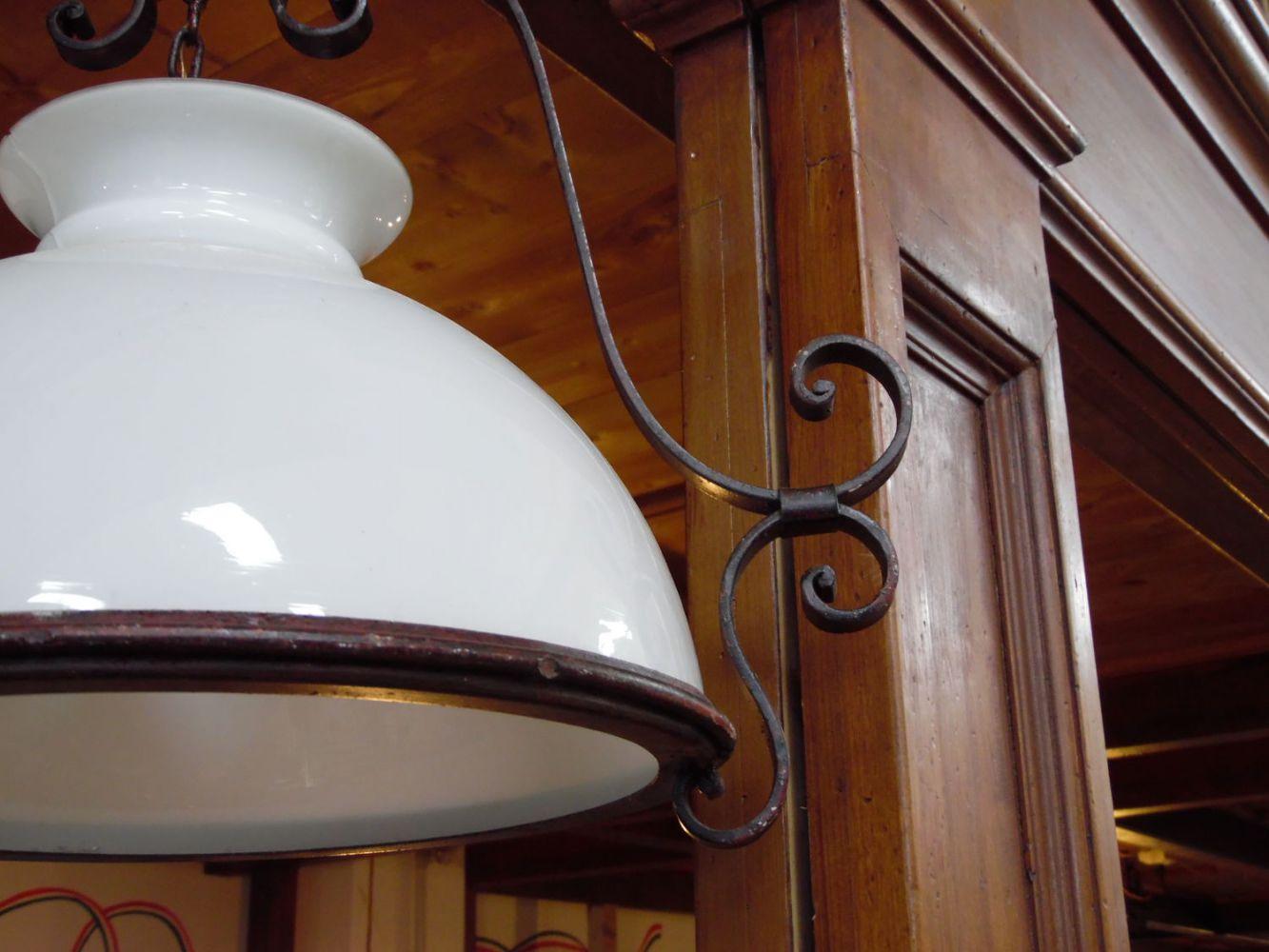 Lampadari fai da te per case, uffici, bar, ristoranti(ottone antico). Lampadario In Ceramica E Ferro Battuto Dettaglio Prodotto Lacole Casa Italiana