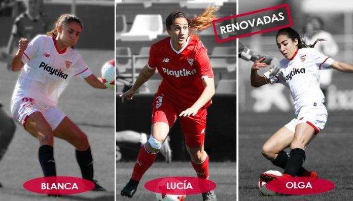 Blanca, Lucía y Olga, tres renovaciones para el Sevilla
