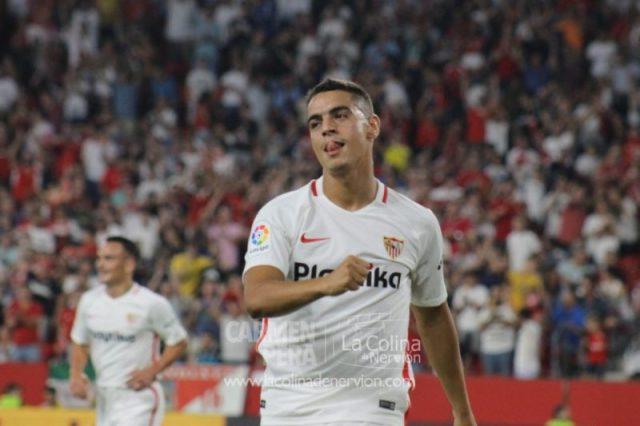 Wissam Ben Yedder, durante el partido ante el Sigma Olomuc | Imagen: La Colina de Nervión - Carmen Pera