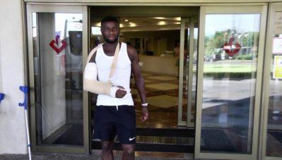 Amadou recibe el alta hospitalaria