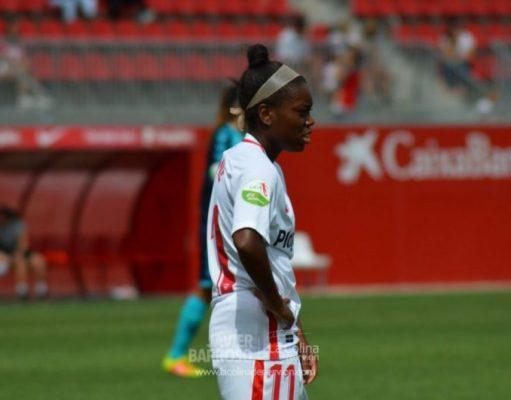 Toni Payne, durante un encuentro del Sevilla Femenino | Imagen: La Colina de Nervión - Javier Barroso