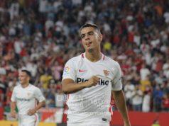 Wissam Ben Yedder, uno de los mejores delanteros del Sevilla FC, durante el partido ante el Sigma Olomuc | Imagen: La Colina de Nervión - Carmen Pera