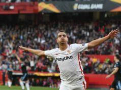 Ben Yedder celebra el primer tanto ante la Lazio   Sevilla FC