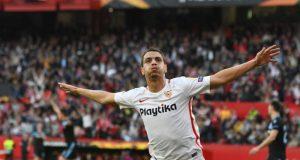 Ben Yedder celebra el primer tanto ante la Lazio | Sevilla FC
