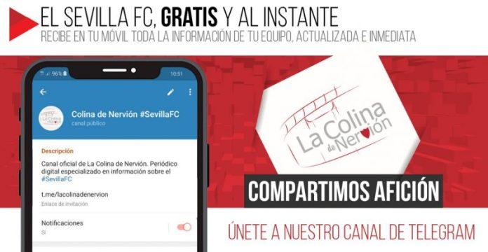 Recibe gratis y al instante todas las noticias del Sevilla FC por Telegram