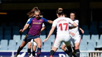 La efectividad y contundencia culés castigan a un buen Sevilla FC