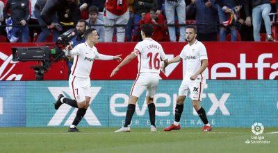 El Sevilla consigue tres puntos importantes de cara a sus aspiraciones europeas