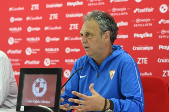Caparrós, en la rueda de prensa previa al partido contra el Atlético de Madird