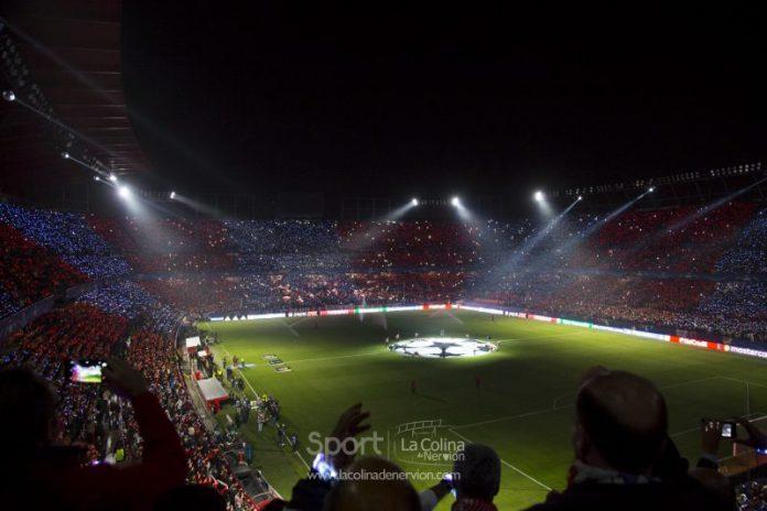 Grada en el Sevilla-Liverpool de UEFA Champions League   Imagen: La Colina de Nervión