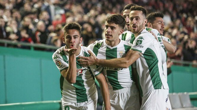 Andrés Martín celebrando su gol ante el Granada   Fuente: El día de Córdoba