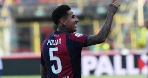 Erick Pulgar, durante un partido con el Bolonia | Imagen: Agencias