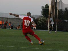 Banega, durante el partido ante el Reading | Imagen: La Colina de Nervión - Carmen Pera