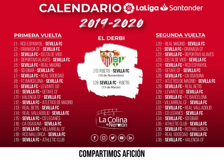 Calendario De 2020 Completo.El Calendario Completo De La Liga 2019 20 En Alta Resolucion