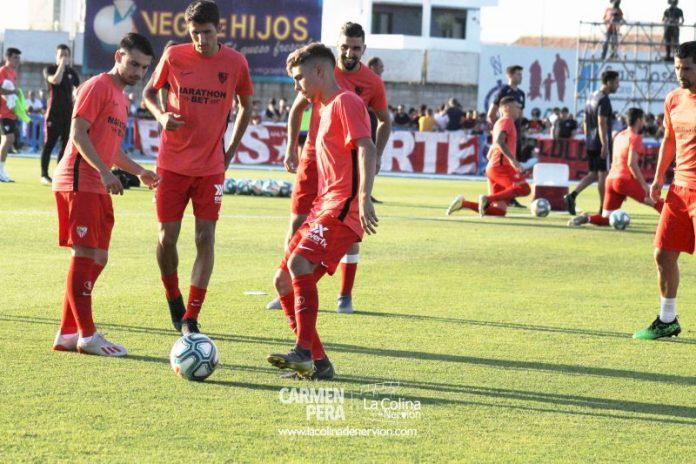 Alejandro Pozo, durante un entrenamiento | Imagen: La Colina de Nervión - Carmen Pera