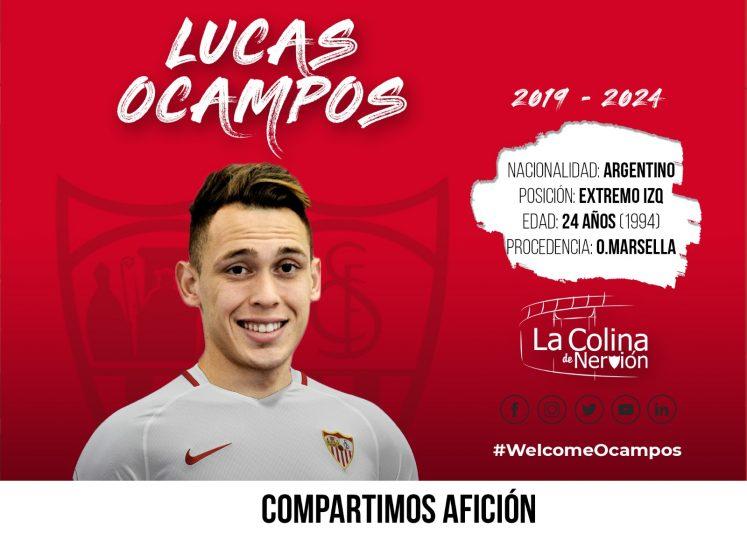 Lucas Ocampos, la sexta incorporación