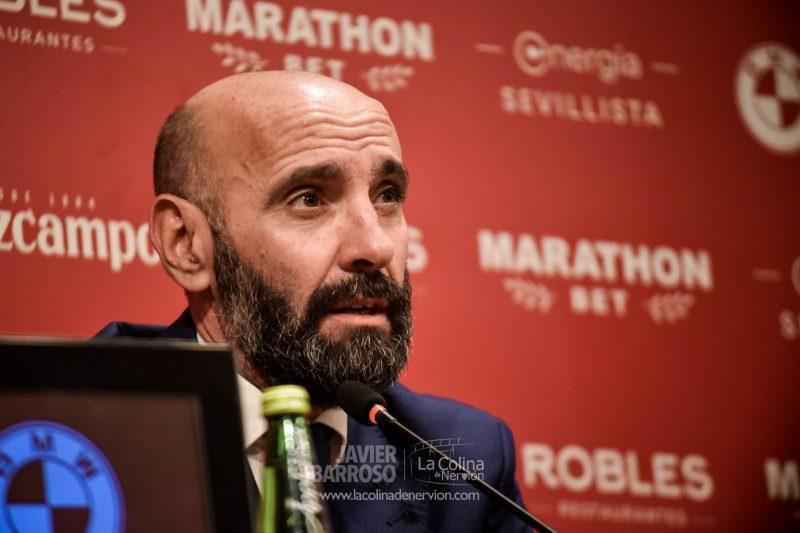 Monchi, durante una rueda de prensa de presentación de Jordán y Diego Carlos   Imagen: La Colina de Nervión - Javier Barroso