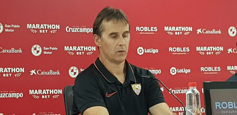 Loptegui, en la rueda de prensa posterior al partido contra el Celta de Vigo | Imagen: La Colina de Nervión - Álvaro Fuentes