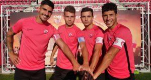 José María Amo, Pepe Mena, Juan Berrocal y Felipe Chacartegui |Imagen: Sevilla FC