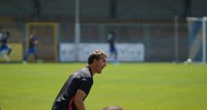 Julen Lopetegui, durante uno de los encuentros ante el Hoffenheim|Imagen: Sevilla FC
