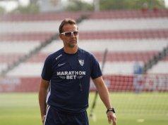 El entrenamiento del Sevilla, comandado por Lopetegui | Imagen: Sevilla FC