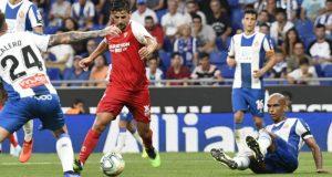 Nolito, antes de lanzar a portería y conseguir su gol ante el Espanyol   Imagen: Sevilla FC