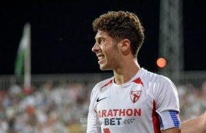 Pepe Mena, durante el partido que enfrentó al Sevilla Atlético y al Córdoba | Imagen: La Colina de Nervión - Javi Barroso