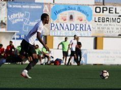 Kibamba, durante el amistoso del Sevilla Atlético en Lebrija | Imagen: Sevilla FC