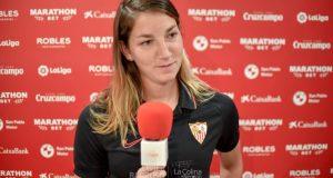 Aldi Cometti, capitana del Sevilla Femenino | Imagen: La Colina de Nervión - Javi Barroso