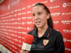 Almudena Rivero, jugadora del Sevilla Femenino| Imagen: La Colina