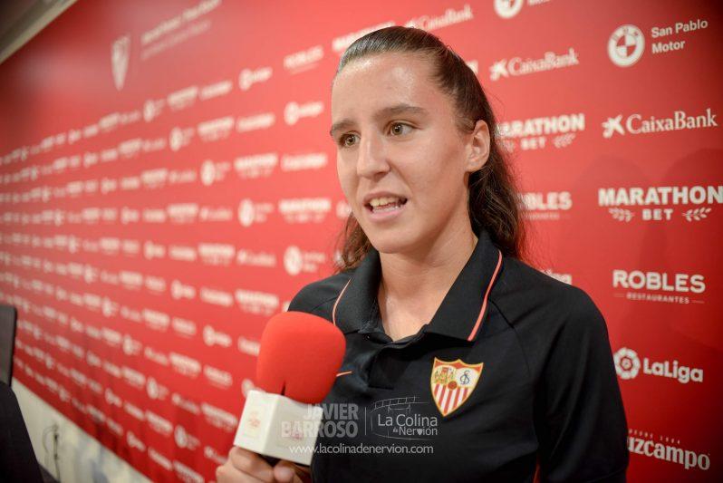 Almudena Rivero, jugadora del Sevilla Femenino  Imagen: La Colina