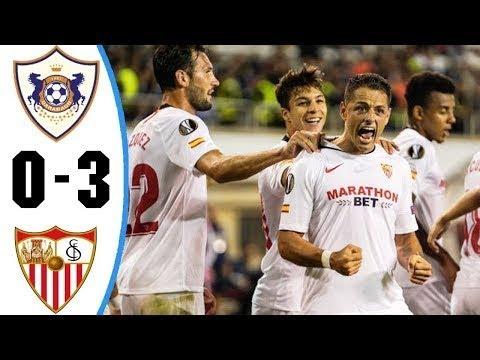 VÍDEO | Resumen de la goleada del Sevilla al Qarabag