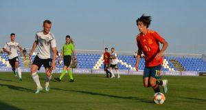 Bryan Gil, durante un partido de España frente a Alemania   Imagen: Sevilla FC