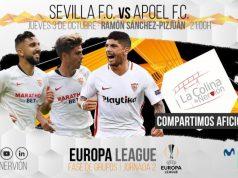 Imagen de la previa del Sevilla FC y Apoel Nicosia en la Europa League