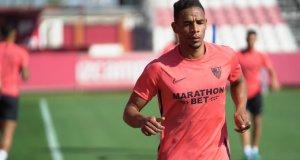 Fernando, durante un entrenamiento del Sevilla | Imagen: Sevilla FC