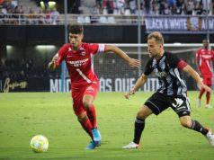 Pepe Mena, durante el encuentro ante el Villarrobleado | Imagen: Sevilla FC