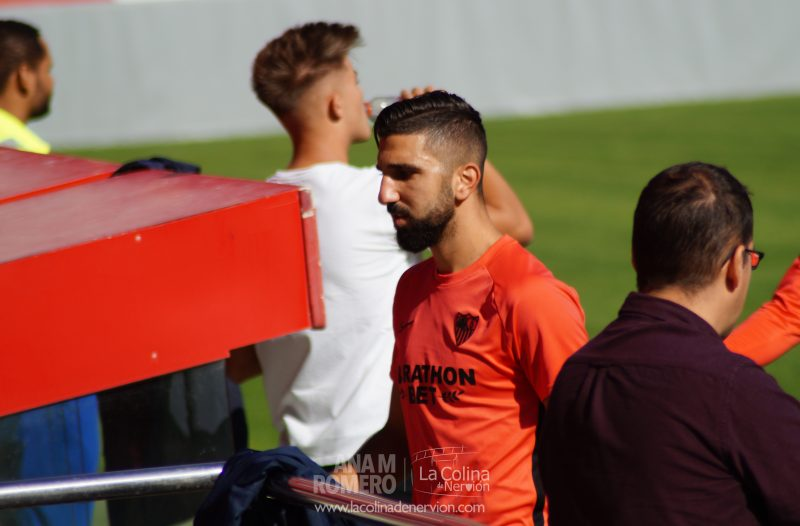 Dabbur durante el entrenamiento del Sevilla | Ana M Romero - La Colina de Nervión