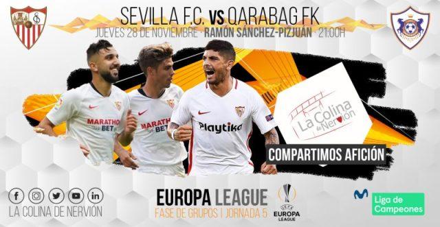 Previa del partido entre Sevilla y Qarabag | Imagen: La Colina de Nervión