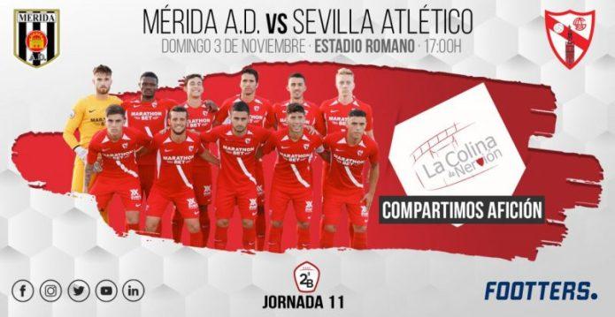 El Sevilla Atlético buscará prolongar su buen momento en Mérida