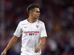 Reguilón, en un partido con el Sevilla
