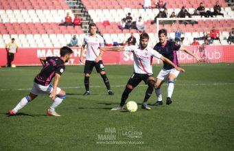 El Sevilla Atlético jugando frente al Recreativo