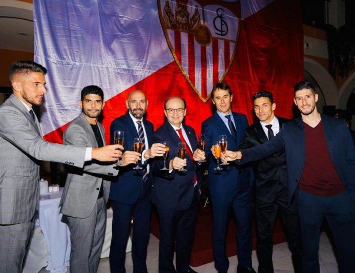 Así pasaron los jugadores del Sevilla la Navidad