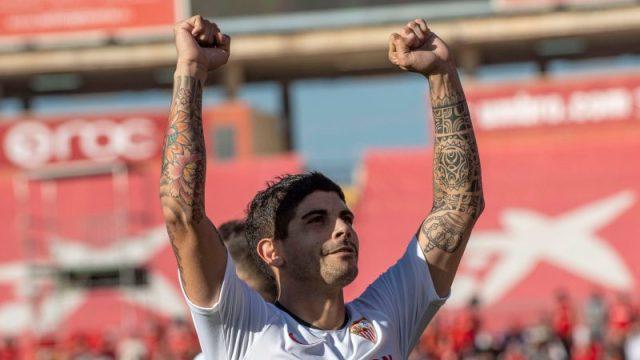 Éver Banega, uno de los goleadores en Mallorca
