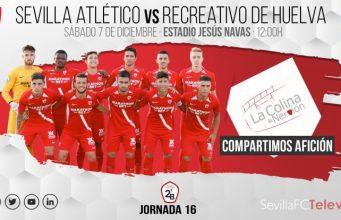 El Sevilla se enfrenta al Recreativo de Huelva en la jornada 16| Imagen: La Colina de Nervión