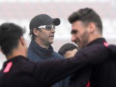 Lopetegui, durante un entrenamiento del Sevilla | Imagen: Sevilla FC