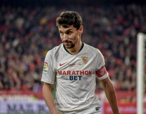 Jesús Navas, durante el partido del Sevilla ante el Granada   Imagen: La Colina de Nervión - Javier Barroso